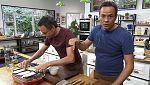 Torres en la cocina - Canelones de verdura y salmonete en escabeche