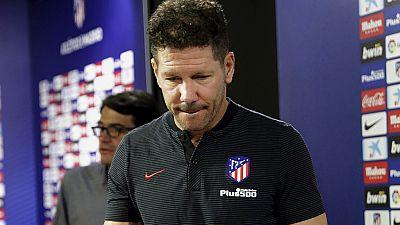 El entrenador del Atlético de Madrid no ha opinado directamente sobre la llegada de Diego Costa, pero ha valorado positivamente su regreso y ha pedido devolver el esfuerzo que está haciendo el club.