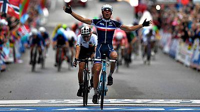 El francés Benoit Cosnefroy se ha proclamado campeón del mundo en ruta sub 23 en la ciudad noruega de Bergen.