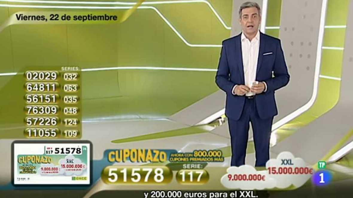 Sorteo ONCE - 22/09/17 - ver ahora