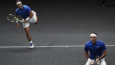 En un histórico partido de dobles con Nadal y Federer formando una pareja de ensueño, Europa ha aumentado su distancia sobre el resto del mundo en la Copa Laver, tras la victoria sobre Sam Querrey y Jack Sock.