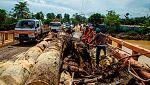 Tras el paso del huracán Harvey, María vuelve a causar destrozos en la República Dominicana