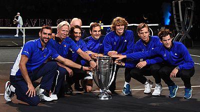 Federer da el triunfo a Europa en la Laver Cup
