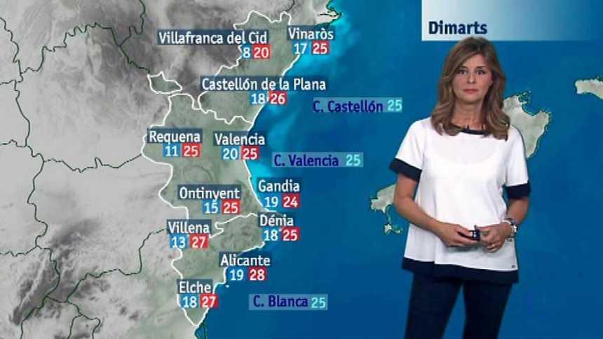 El tiempo en la Comunidad Valenciana - 25/09/17