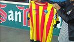 El árbitro no permite al Lleida jugar con la camiseta de la senyera