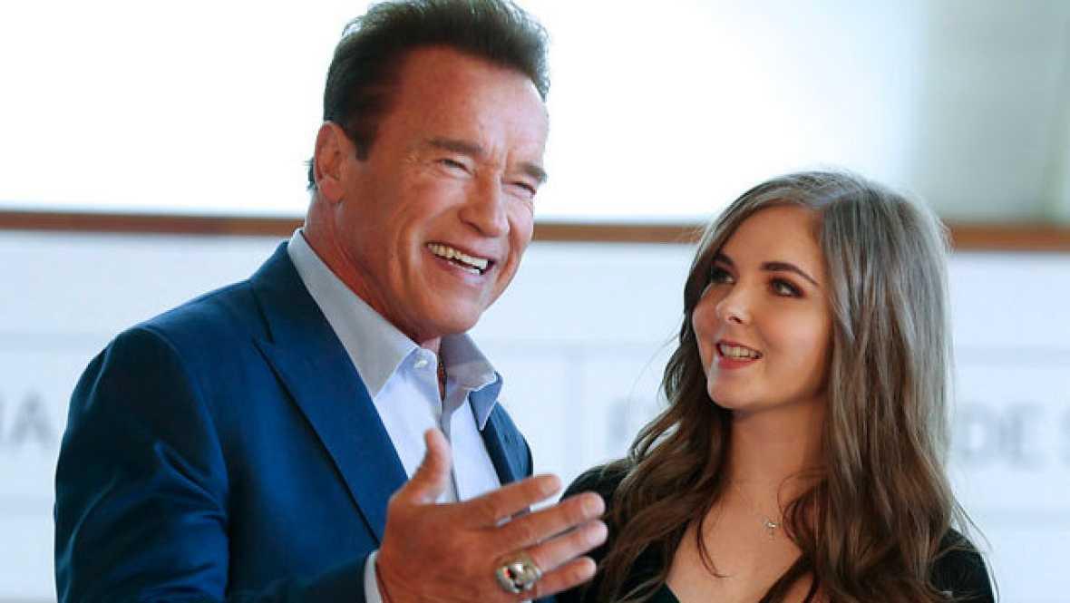 En el Festival de Cine de San Sebastián, el protagonista esta mañana ha sido Arnold Schwarzenegger