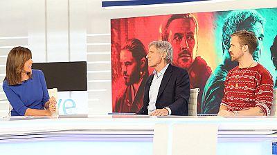 Entrevista de Ana Blanco a Harrison Ford y Ryan Gosling en el Telediario de TVE