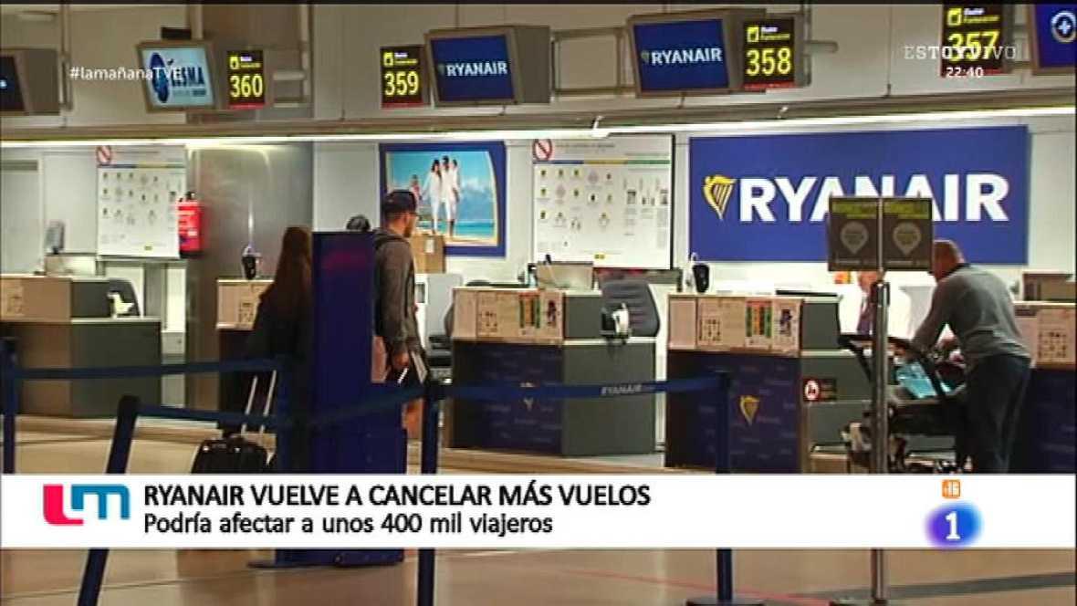Más vuelos cancelados de Ryanair