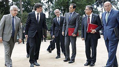 Referéndum en Cataluña: Reunión de la Junta de Seguridad de Cataluña en Barcelona