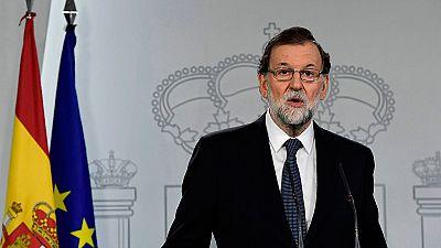 Rajoy comparecerá en el Congreso y convoca a los partidos ante la situación en Cataluña