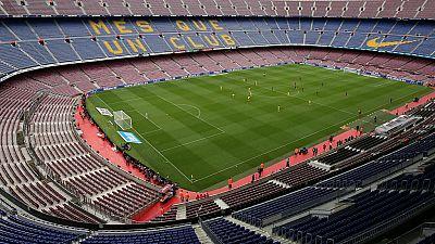 El Barça - Las Palmas se disputó a puerta cerrada