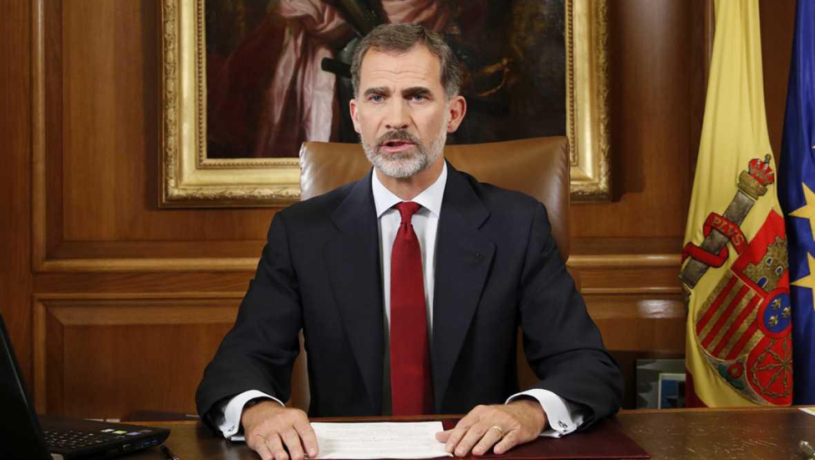 """Felipe VI: """"Determinadas autoridades de Cataluña han demostrado una deslealtad inadmisible con los poderes del Estado"""""""