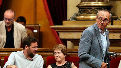 El portavoz de Catalunya Sí Que es Pot, Joan Coscubiela, en el Parlament