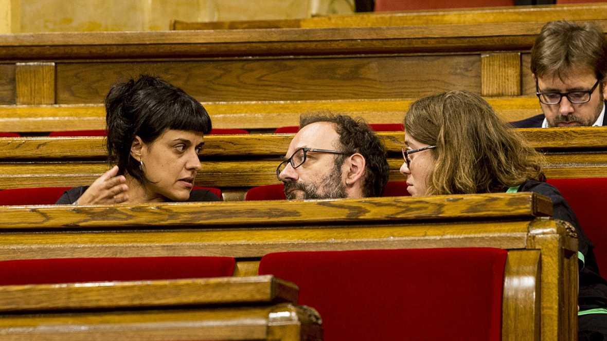 La CUP pide a la Generalitat que deje de trabajar con Banco Sabadell, Caixabank y BBVA