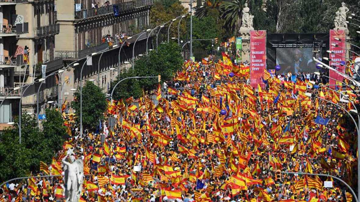 Especiales informativos - Manifestación en Barcelona - 08/10/17 - RTVE.es
