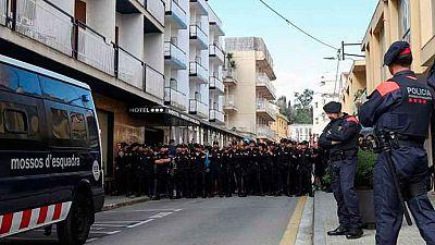 El TSJ de Cataluña retira a los Mossos la competencia exclusiva de la vigilancia de la sede del tribunal