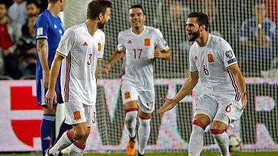 España se ha impuesto 0-1 en Israel con un golazo de Illarramendi que pone el broche a una fase de clasificación en la que no ha perdido un solo partido y ha conseguido el pase al Mundial como primera de grupo.