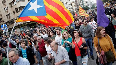 Boicot en la tradicional manifestación del 9 de octubre en Valencia
