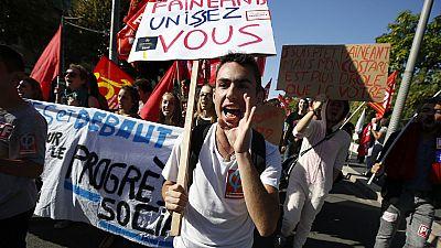 Jornada de huelga de los funcionarios en Francia