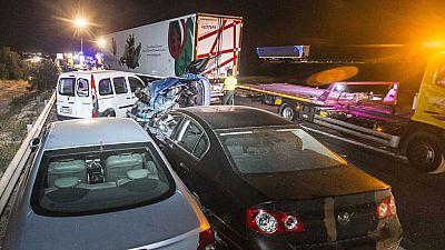 Accidente producido en la localidad de Sangonera la Seca (Murcia)