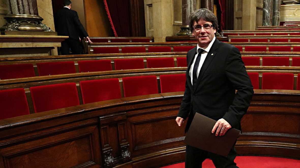 La declaración de Puigdemont se ha retrasado una hora