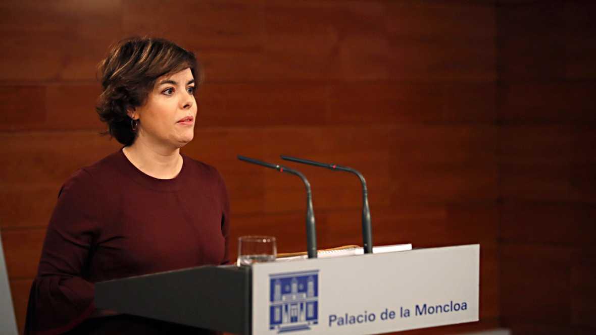 """Saenz de Santamar� a, sobre la declaración de Puigdemont: """"El diálogo entre demócratas se hace dentro de la ley"""""""