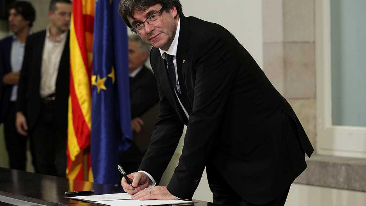 JxS�  y CUP firman un documento sobre la independencia para evitar la fractura