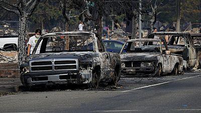 Al menos 17 muertos por los incendios en California y más de 46.500 hectáreas arrasadas