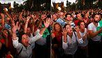 Decepción entre los miles de independentistas congregados junto al Parlament tras escuchar a Puigdemont