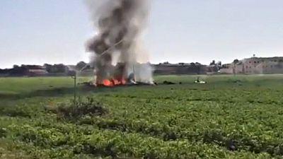 Un avión Eurofighter se estrella cerca su base en Albacete tras participar en el desfile de la Fiesta Nacional