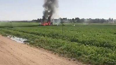 Muere el piloto de un Eurofighter estrellado en Albacete cuando regresaba del desfile de la Fiesta Nacional