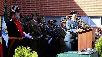 Una mujer ha presidido por primera vez los actos del Día de la Patrona de la Guardia Civil en Cáceres