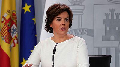 El Gobierno insta a Puigdemont a que vuelva a la legalidad