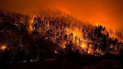 Quince incendios activos arrasan 1.900 hectáreas en Galicia en 24 horas