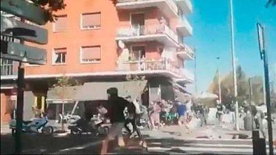 Cuatro heridos, uno en la UCI, en una pelea de seguidores del Alavés y Racing