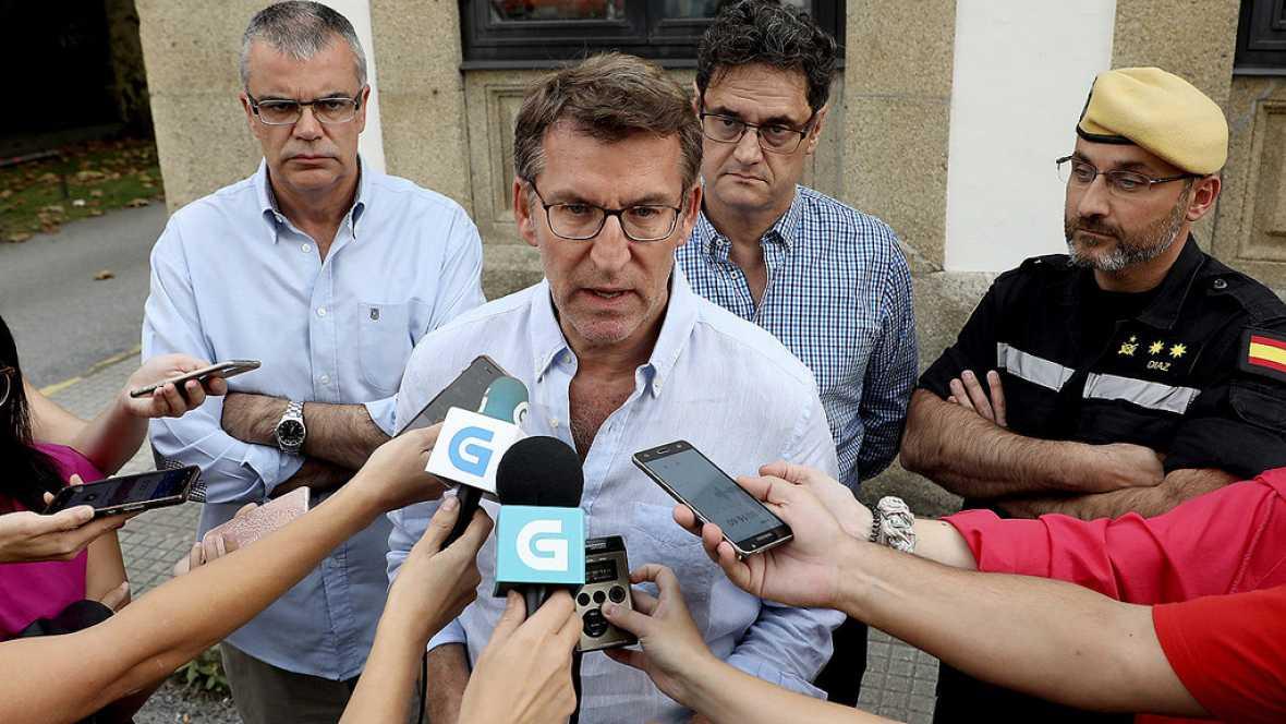 """Incendios en Galicia - Nuñez Feijóo reconoce que la situación es """"compleja"""""""