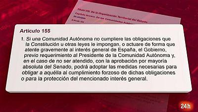 Parlamento - Conoce el parlamento - Artículo 155 de la Constitución - 14/10/2017