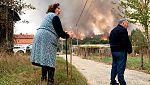Impotencia y angustia entre los vecinos afectados por los incendios de Galicia