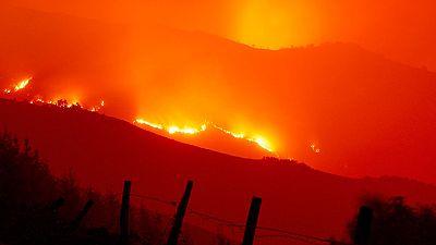 Miles de hectáreas arrasadas por los fuegos en Galicia