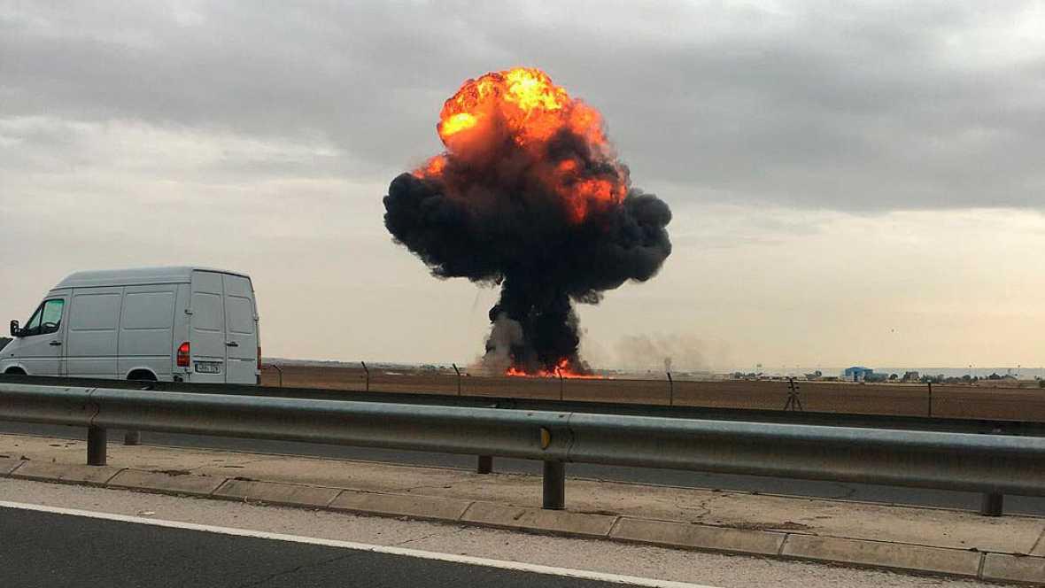Un piloto del Ejército del Aire muere al estrellarse su avión F18