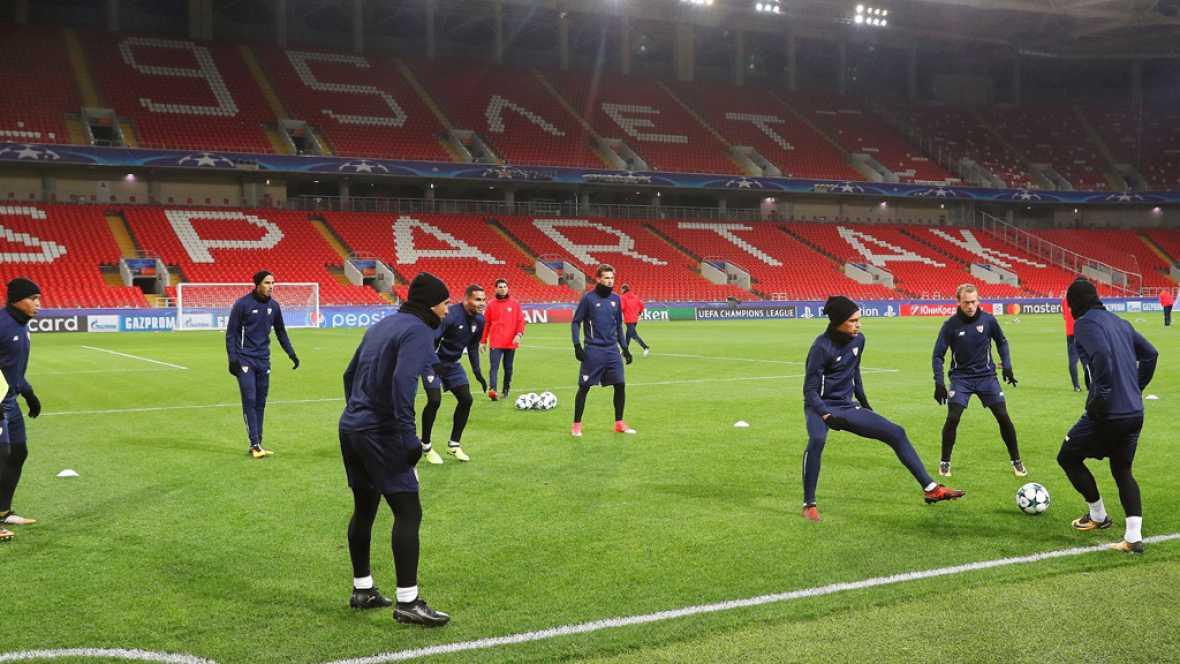 El Sevilla aspira a afianzar su liderato en Moscú