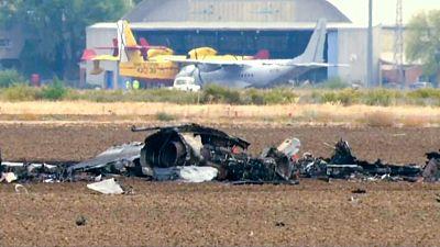 Muere el piloto de un F-18 al estrellarse en la base aérea de Torrejón de Ardoz