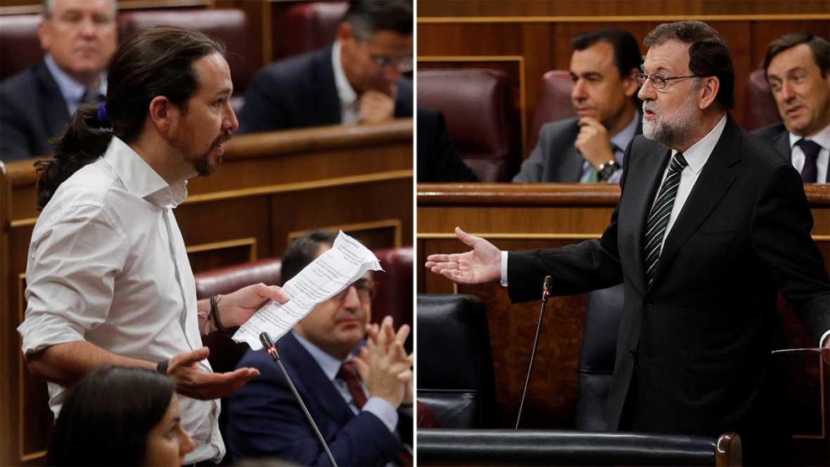 """Iglesias exige al PP que """"vuelva a legalidad"""" y pida """"perdón"""" por Gürtel y Rajoy le acusa de ser la """"inquisición"""""""