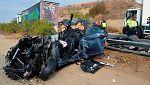 Un muerto y 15 heridos en la colisión múltiple de 36 vehículos en Cáceres