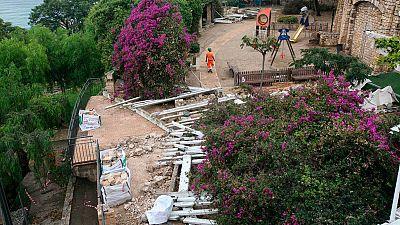 Una intensa tormenta cae en Tarragona
