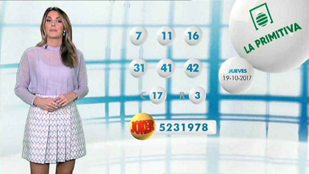 Lotería Nacional + La Primitiva + Bonoloto - 19/10/17 - ver ahora