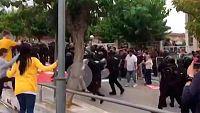 Un detenido por dar una patada en la cabeza a un guardia civil durante el 1-O