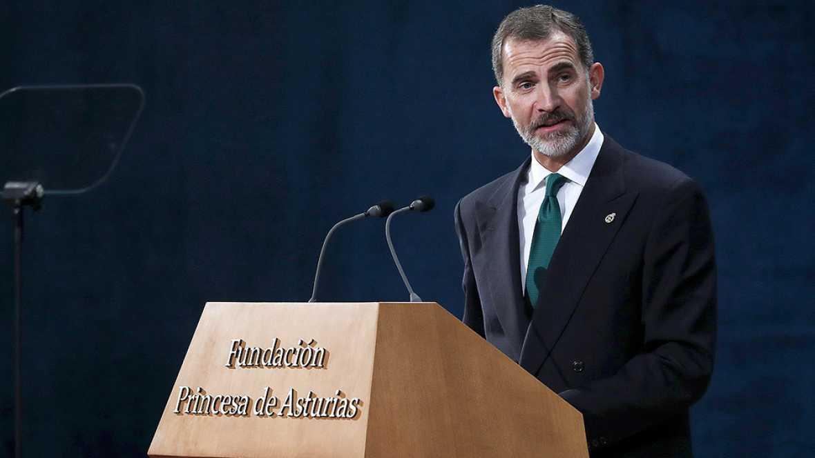 """El rey: """"España tiene que hacer frente a un inaceptable intento de secesión"""""""