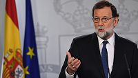 Rajoy cesa a Puigdemont y a todo el Govern y da un plazo de seis meses para las elecciones en Cataluña