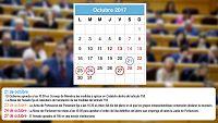 Tres fechas claves en el camino a la aplicación del 155